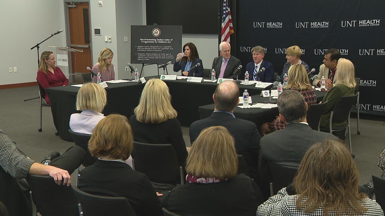 Sen. John Cornyn hosts e-cigarette roundtable in Fort Worth as Senate mulls legislation